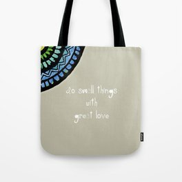 Mother Theresa with Surjal Mandala Tote Bag