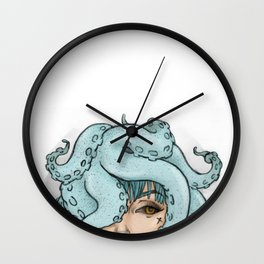 octopus mess Wall Clock