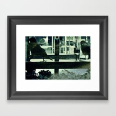 Small town afternoon Framed Art Print