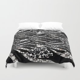 Black&Silver Abstract Bling Pattern  Duvet Cover
