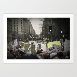 Women's March 2017: Protestors Filling the Streets Art Print
