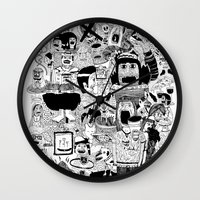doom Wall Clocks featuring KIDS DOOM by WASTED RITA