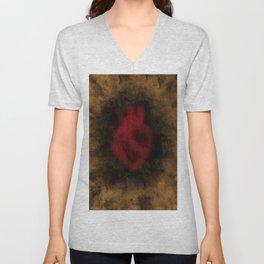 Heart Implosion Unisex V-Neck