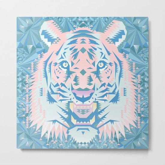 Pastel Quartz Tiger Metal Print