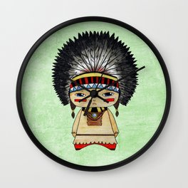 A Boy - American indian Wall Clock