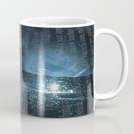 Taking the Evening Train Through Winter Words Coffee Mug