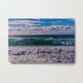 Big Surf at Blue Shutters Beach, Rhode Island Metal Print