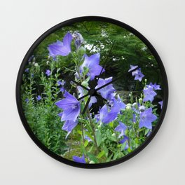 Blue bell flower /Japanese garden Wall Clock