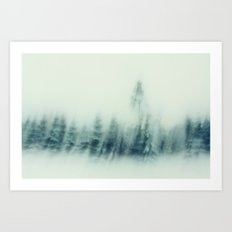 cold winter woods Art Print