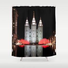 LDS Temple Square - Salt Lake City, Utah Shower Curtain