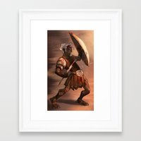 gladiator Framed Art Prints featuring Gladiator by normalitea