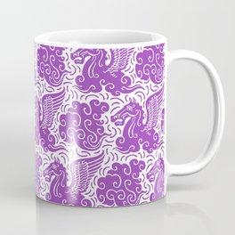 Pegasus Pattern Purple Coffee Mug