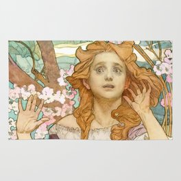 "Alphonse Mucha ""Maude Adams (1872–1953) as Joan of Arc"" Rug"