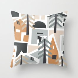 Holiday shapes Throw Pillow