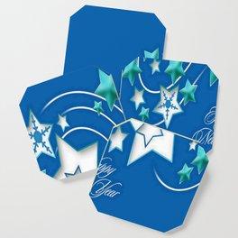 Jade and Blue Happy New Year Shooting Stars Coaster