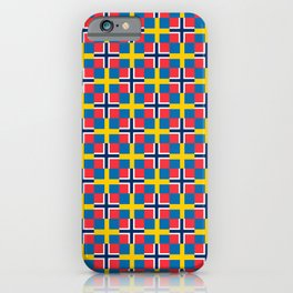 Mix of flag: norway and sweden iPhone Case