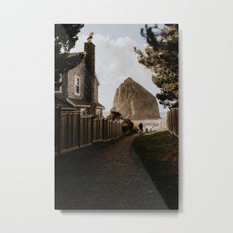 Cozy Cannon Beach, Oregon Metal Print