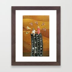 Hands to the Freeway Framed Art Print