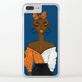 Deep blue Clear iPhone Case