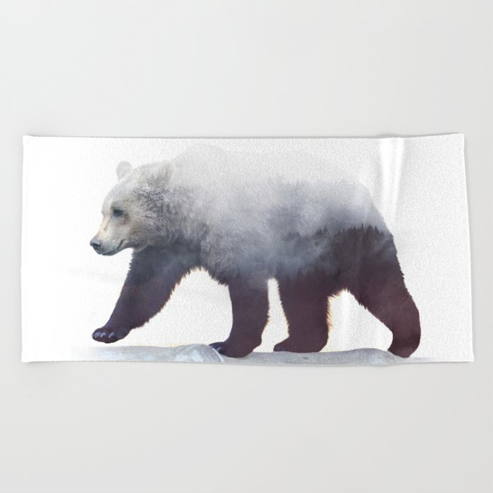 Wild Bear Beach Towel