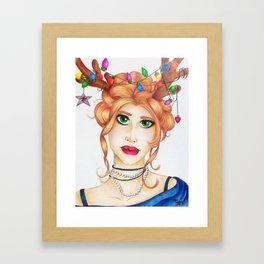 Reindeer Beauty Framed Art Print