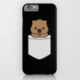 Wombat Pocket iPhone Case