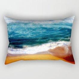 Beach at Sunset Rectangular Pillow