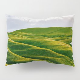 Rolling Green Hills In Heaven With Fluffy White clouds Pillow Sham