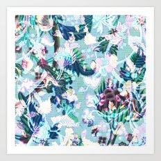 Tapestry Digi-blue Art Print