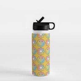 Smiley & Flower Smiley (Yellow Bg) Water Bottle