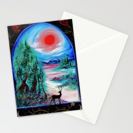 Enchanted Worlds Stationery Cards