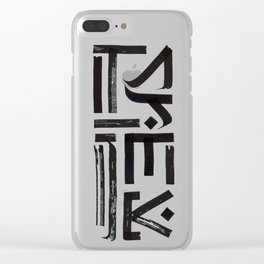 """Cyrillic Сalligraphy """"sinner"""" Clear iPhone Case"""