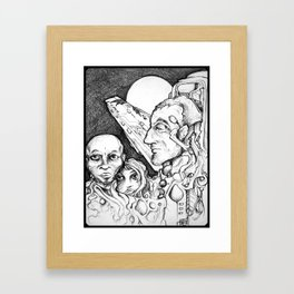 Touching from a Distance - Illustration Framed Art Print