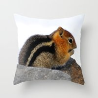 furry Throw Pillows featuring Furry Friend by Teresa Chipperfield Studios