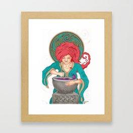 Goddess Ceriddwen Framed Art Print