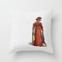 pride and prejudice Throw Pillows featuring Pride & Prejudice by Studio Fibonacci