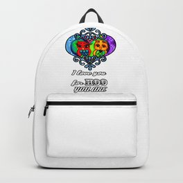 I love you for Hoo you are Backpack