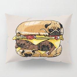 Pugs Burger Pillow Sham