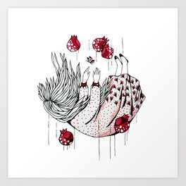 Dreaming pomegranate Art Print