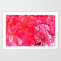 daredevil Art Prints featuring Daredevil by s133pDEADart