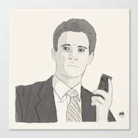 dale cooper Canvas Prints featuring Agent Dale Cooper by Orphan Elliott