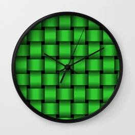 Large Lime Green Weave Wall Clock