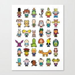 90s Nicktoons Canvas Print