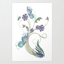 Glitter Butterflies Art Print