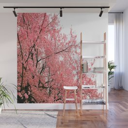 Coral Pink Flowers  Wall Mural