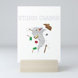 Cute Storm Chaser for Tornado Fans Mini Art Print