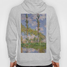 1891-Claude Monet- Poplars in the Sun-73 x 93 Hoody