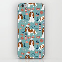 Cavalier King Charles Spaniel nautical sailing lighthouse new england sailboats iPhone Skin