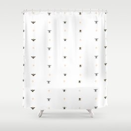 Bees on bees Shower Curtain
