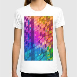 NYC architecture gradient 559 T-shirt